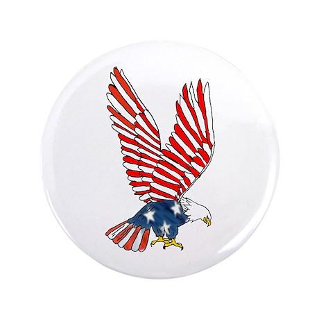 """Patriotic Eagle 3.5"""" Button"""
