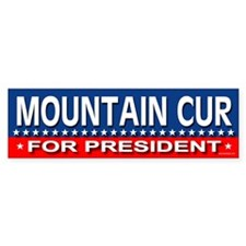 MOUNTAIN CUR Bumper Bumper Sticker