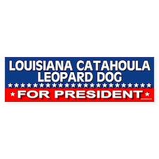 LOUISIANA CATAHOULA LEOPARD DOG Bumper Car Sticker