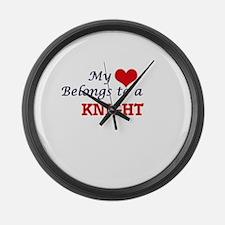 My heart belongs to a Knight Large Wall Clock