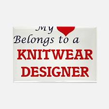 My heart belongs to a Knitwear Designer Magnets