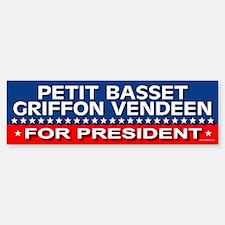 PETIT BASSET GRIFFON VENDEEN Bumper Bumper Bumper Sticker