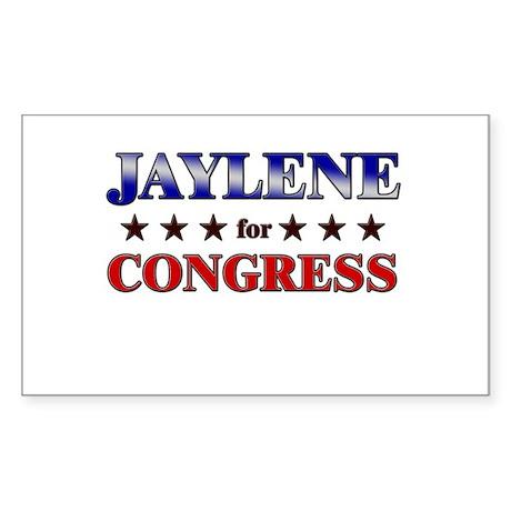 JAYLENE for congress Rectangle Sticker