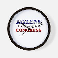 JAYLENE for congress Wall Clock