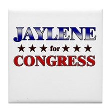 JAYLENE for congress Tile Coaster