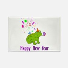 New Years Frog Rectangle Magnet