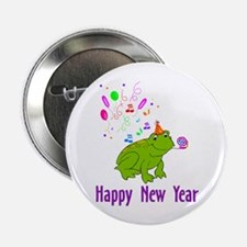 """New Years Frog 2.25"""" Button"""