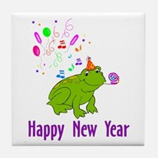 New Years Frog Tile Coaster