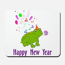 New Years Frog Mousepad