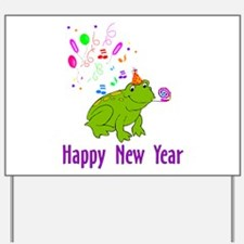 New Years Frog Yard Sign