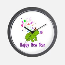 New Years Frog Wall Clock