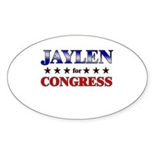 JAYLEN for congress Oval Decal