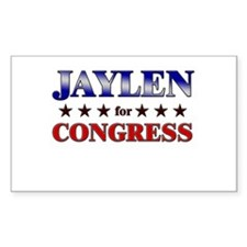 JAYLEN for congress Rectangle Decal
