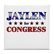 JAYLEN for congress Tile Coaster