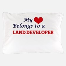 My heart belongs to a Land Developer Pillow Case