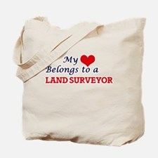 My heart belongs to a Land Surveyor Tote Bag