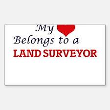 My heart belongs to a Land Surveyor Decal