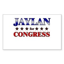 JAYLAN for congress Rectangle Decal