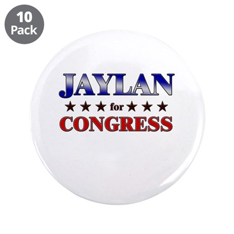 "JAYLAN for congress 3.5"" Button (10 pack)"