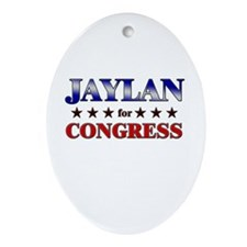 JAYLAN for congress Oval Ornament