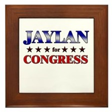 JAYLAN for congress Framed Tile