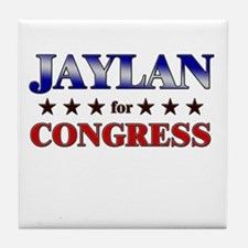 JAYLAN for congress Tile Coaster