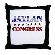 JAYLAN for congress Throw Pillow