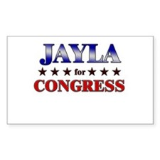 JAYLA for congress Rectangle Decal
