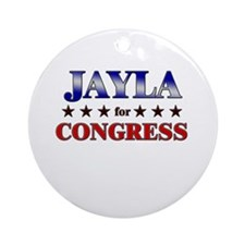 JAYLA for congress Ornament (Round)