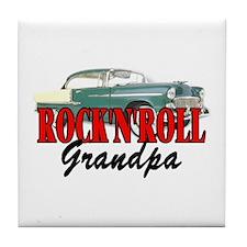 ROCK'N'ROLL GRANDPA Tile Coaster