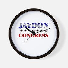 JAYDON for congress Wall Clock
