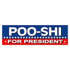 POO-SHI Bumper Bumper Sticker