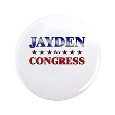 """JAYDEN for congress 3.5"""" Button"""