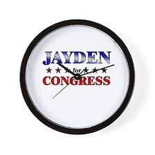 JAYDEN for congress Wall Clock