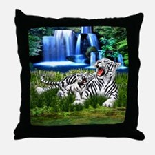 Tiger Cub Learns to Roar Throw Pillow
