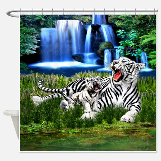 Tiger Cub Learns to Roar Shower Curtain
