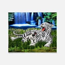 Tiger Cub Learns to Roar Throw Blanket