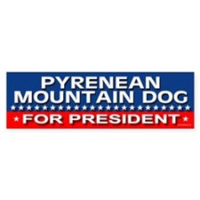 PYRENEAN MOUNTAIN DOG Bumper Car Sticker