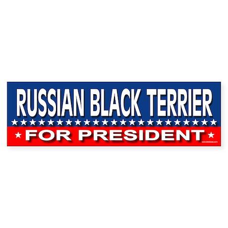 RUSSIAN BLACK TERRIER Bumper Sticker