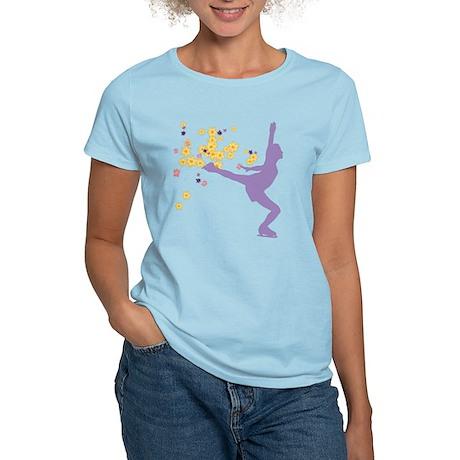 Floral Figure Skater Women's Light T-Shirt