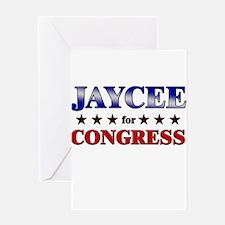 JAYCEE for congress Greeting Card