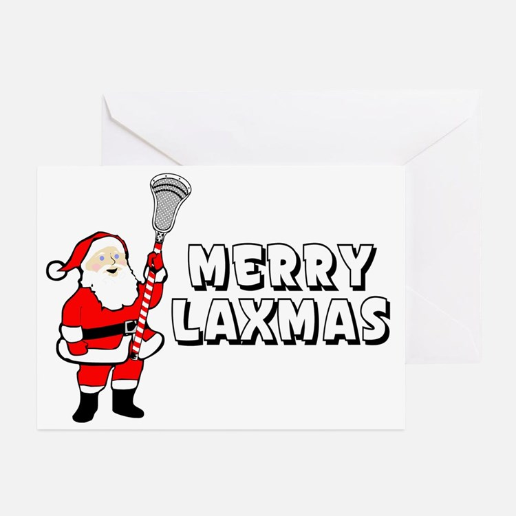 Lacrosse Merry Laxmas Greeting Cards (Pk of 10)