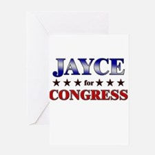 JAYCE for congress Greeting Card
