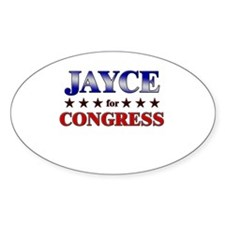 JAYCE for congress Oval Decal