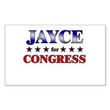 JAYCE for congress Rectangle Decal