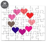 Circle of Rainbow Hearts Puzzle