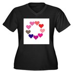 Circle of Rainbow Hearts Plus Size T-Shirt