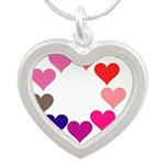 Circle of Rainbow Hearts Necklaces