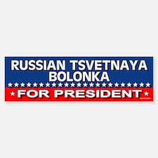 RUSSIAN TSVETNAYA BOLONKA Bumper Bumper Bumper Sticker