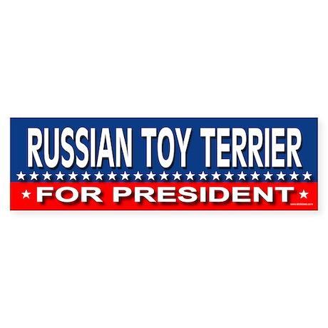 RUSSIAN TOY TERRIER Bumper Sticker